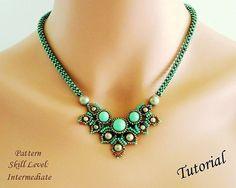 Istruzioni perline Tutorial - beadweaving modello perline gioielli rocaille - collana CHIMERE beadwoven