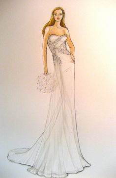 Forever Your Dress - custom wedding dress illustration @Linda Lloyd