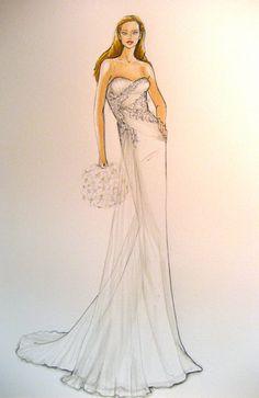 Forever Your Dress - custom wedding dress illustration  @Linda Bruinenberg Lloyd