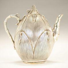 Antique Silver bronzed Japanese Teapot, with bamboo handle & spout Vintage Tea, Vintage Silver, Antique Silver, Teapots Unique, Silver Teapot, Bronze, Teapots And Cups, Tea Art, Tea Service