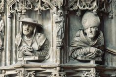 Sculptures on Stone Pulpit of Saint Stephen's Cathedral, Vienna