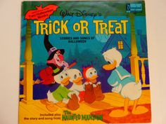 RARE Children's Vinyl - Trick or Treat Stories and Songs of Halloween w/cut-out Masks - Disneyland Records 1974 - Vintage LP Record Album by notesfromtheattic on Etsy