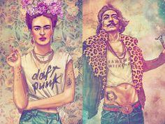 ME: I so enjoy this kind of art work! Previous Pinner: frida  daft punk