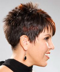 Alternative Short Straight Hairstyle - click to view hairstyle information ~ pretty short for me, but I like the shape and the texture of the cut.
