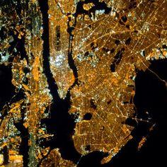 Nova Iorque à noite - EUA - Fotos aéreas