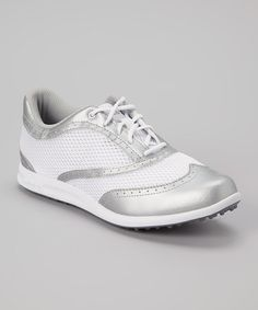 newest collection 91970 d9cce adidas Silver   White Adicross Golf Shoe - Women