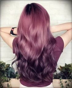 71 most popular ideas for blonde ombre hair color - Hairstyles Trends Hair Color Purple, Cool Hair Color, Purple Ombre, Dark Pink Hair, Purple Tips, Hair Colors, Dusty Pink Hair, Long Pink Hair, Violet Ombre
