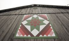 """""""Amish Dahlia"""" quilt pattern, painted on a barn in Grantsville, Maryland."""