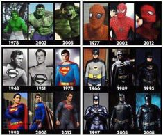 Even the superheroes have their evolution. Strive for more! . Who is your favorite?