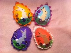 Felt Easter egg ornaments