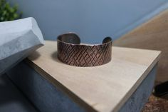 "Men's Hammered Copper Cuff, 1"" Wide by NurturedWorks on Etsy"