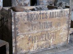 Goods in Robert Scott's hut in Antarctica