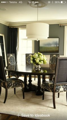 Black and white dinning rooms