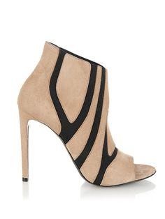 Balenciaga Suede Elastic tan & black Boots