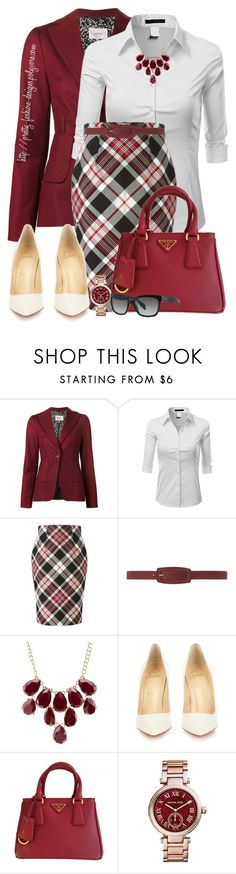 """""""~ Work Wear ~"""" by pretty-fashion-designs ❤ liked on Polyvore featuring Dorothee Schumacher, Doublju, Alexander McQueen, Dorothy Perkins, Charlotte Russe, Christian Louboutin, Prada and Michael Kors"""