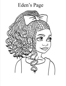 Cute Braids and Puffs | Diverse Coloring Pages and Books ...