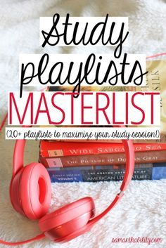25+ playlists to maximize your study session! For all genre's and tastes!