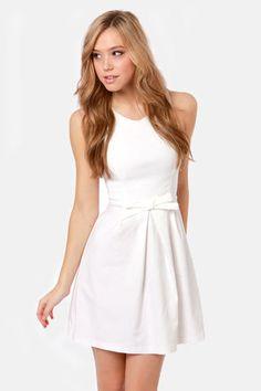 ivory dress / lulu's