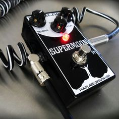 Just got this Supermoon from Mr. Black _ Jack Deville - amazing echo pedal. #pedal #guitar #bulletcable