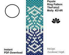 peyote ring pattern,PDF-Download, #214R, TheFairy2-Molly,beading pattern,beading tutorials, ring pattern,pdf pattern,pattern design,pdf file