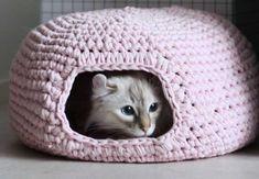 En kat sover mellem 12 og 16 timer om dagen, så selvfølgelig skal den have sin helt egen seng.