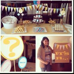 Gender reveal party comes to life.  P.S. It's a boy!