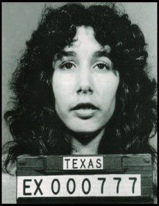 Karla Faye Tucker... Axe murder (smb:  Don't say her name three times fast. and, too bad.  She could have been a Cher impersonater.)