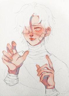 Anime Drawings Sketches, Cute Drawings, Pretty Art, Cute Art, Manga Art, Anime Art, Manga Watercolor, Arte Sketchbook, Boy Art