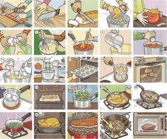 Food preparation, recipes and cooking vocabulary