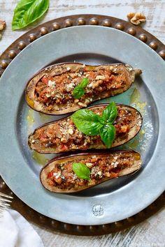 Italian Eggplant with Walnut Stuffing ciaochowbambina.com