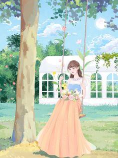Beautiful Fantasy Art, Beautiful Anime Girl, Cute Cartoon Girl, Cartoon Art, Cover Wattpad, Lovely Girl Image, Girly Drawings, Cute Girl Wallpaper, Anime Princess