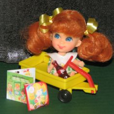 Liddle Kiddle Trikey Triddle Doll So Bright & Cheery in Biff's Wagon! ORIGINALS #Dolls