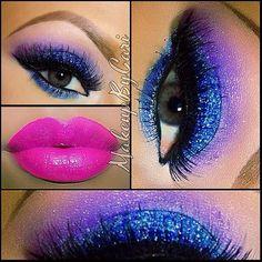 Colorful makeup look @ makeupbycari