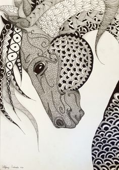 Horse draw ❤️❤️ #creative #drawing #doodles