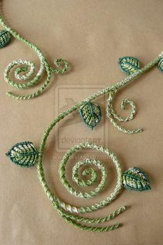 Secret Garden - Leaves Collier (Detail) by nimuae on deviantART