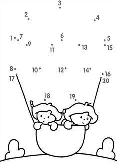 Connect The Dots Worksheets For Kindergarten – Worksheets Samples Printable Preschool Worksheets, Kindergarten Math Worksheets, Preschool Learning Activities, Worksheets For Kids, Preschool Activities, Teaching Kids, Kids Learning, Numbers Preschool, Math For Kids