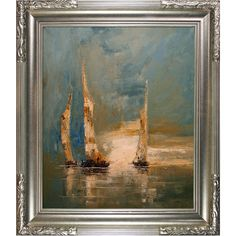 Boats is an inspiring image of large sale boats navigating the breezy sea current. Enjoy its beauty and color reproduced as a fine canvas print. Justyna Kopania is from Warszawa, Poland. In her words