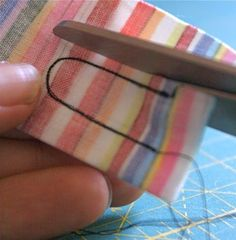 Turning skinny pieces right side out. Brilliant sewing tip! Follow link: