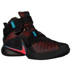 Nike Zoom Soldier 9 - Men s - Basketball - Shoes - LeBron James - Black Hyper  Orange Blue Lagoon Green Shock-sku 49417084 73e424b9ce2ef