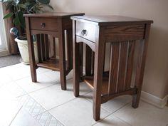 Oak Mission End tables - by gesshoom @ LumberJocks.com ~ woodworking community