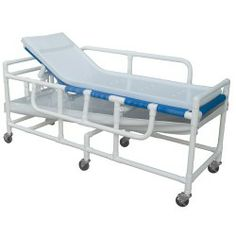 Designed for use by individuals with mobility disabilities, the Lumex Shower Stretcher is the durable, simple solution to bathing those patients who cannot sit up in a chair. Constructed from the highest quality health care grade PVC, the Bathing Gurney features quick-drying mesh and a closed-cell waterproof foam pad with a durable cover that is easy to clean and will not promote bacteria growth.