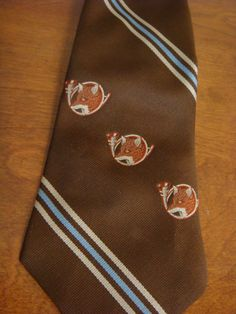 Vintage Necktie Mens Clip On Tie Distinctive Creations Mens Snapper Tie What does the Fox say on Etsy, $12.00
