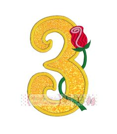 Rose Number 3 Digital Machine Embroidery by ButterflyStitchesemb
