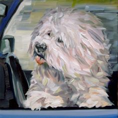 Starbucks Freedom Rider II, painting by artist Nancy Spielman