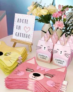 Baby shower ideas decoracion animales Ideas for 2019 Kitten Party, Cat Party, Geek Party, Cat Birthday, 2nd Birthday Parties, Animal Party, Party Planning, Party Invitations, Party Time