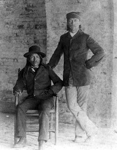 Ahnandia and George Wratten at Fort Pickens, 1886