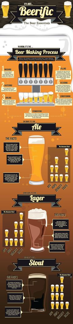Infographics - It's Just Beerific: The Beer Essentials #beer  www.avacationrental4me.com