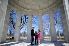 intimate wedding at the dc war memorial