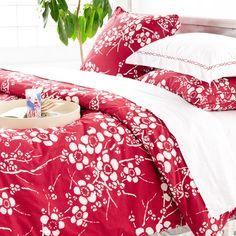 Kiyoko Red Duvet Cover from PoshTots