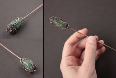 Copper hairpin 'Some kind of magic' by WhiteSquaw.deviantart.com on @deviantART
